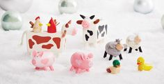 With their sweet felt ears and tails, these tactile wooden farm animals are a GLTC favourite