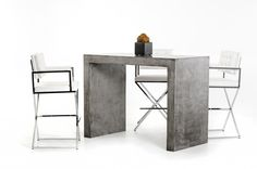 Modrest McGee Modern Concrete Bar Table VGGR641505Description: Concrete is a natural material that possess natural properties such as small cracks, divots, and chips, these properties do not necessarily mean that a piece is damaged, defective or irreparable. Any appearance of small scratches, chips, divots or small cracks that are not structural will not be grounds for return or replacement, but should be viewed as badges of honor that enhance the piece, and the life lived around it.Product…