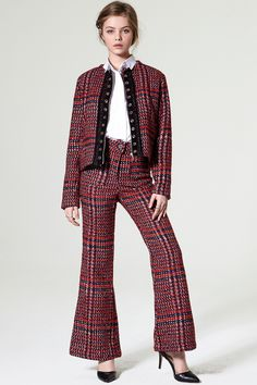 Cona Red Tweed Pants Discover the latest fashion trends online at storets.com