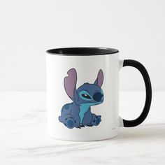 Grumpy Stitch Mug. Special Classic Disney's Lilo and Stitch items to personalize for yourself or as a gifts to friends. Disney Kitchen, Disney Dining, Cute Stitch, Lilo And Stitch, Disney Store Mugs, Disney Coffee Mugs, Disney Cups, Cute Keychain, Disney Family