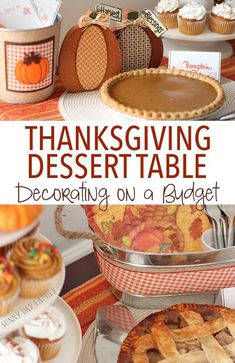 Setting up a gorgeous Thanksgiving dessert table is easy and affordable with these ideas! Love this pumpkin themed Thanksgiving dessert buffet and you won't believe how inexpensive it is to recreate! #ad @mydollargeneral