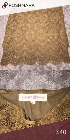 Lace skirt In great condition selling bc it's too small alterd state Skirts Mini
