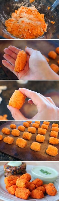 Homemade Baked Sweet Potato Tots
