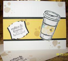 Cute coffee card - Perfect Blend www.crazystampinglady.blogspot.com Maureen Rauchfuss