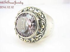 Samuel B BJC Behnam Sterling Silver 925 18K Gold Round Amethyst Ring Size 8 #SamuelBehnamBJC #Solitaire #AnniversaryBirthdayEveryday