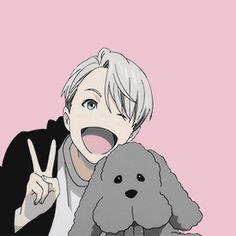 """Yuri!! on Ice  icons ➝ Victor Nikiforov ""                                                                                                                                                                                 Más"