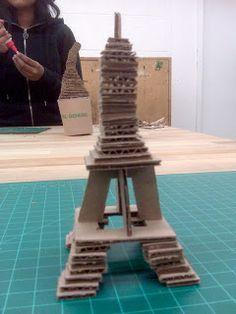 The Art Student's Blog: Cardboard Landmarks
