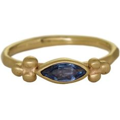 Rebecca Overmann collaboration with Alara Jewelry: East-to-West Marquise shape Montana Yogo Sapphire Ring. Only at Alara Jewelry and a perfect alternative engagement ring with yogo sapphires.