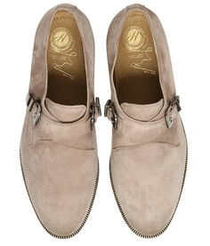 Women's Piccadilly (Taupe) Suede Monk Shoes | H by Hudson