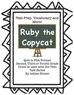 This product was designed to help my students learn a different format of testing besides multiple choice. So start with your regular Text Talk routine, and then end the activities with the test prep page. Its a great format for a quick comprehension quiz.