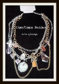 Bold Chain & Charm Necklace -NWT
