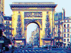 Porte St Denis - Roberto Sieni - from 192€ - Porte St Denis è un'opera realizzata da Roberto Sieni, artista fiorentino con un'esperienza decennale nel settore della grafica; la sua attività spazia dalle realizzazioni editoriali alle pubblicitarie alle opere d'arte.