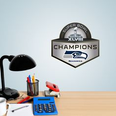 DIY Wall Decals Decorate your cube at work, dorm room or bedroom. They don't have to go just on the wall. They fit in all kinds of spaces so you can show your fandom on notebooks, furniture, cabinets, desks, fridges, windows, doors, even the back of a metal or plastic chair. SHOP http://www.fathead.com/nfl/seattle-seahawks/seattle-seahawks-super-bowl-xvliii-champions-teammate-wall-decal/