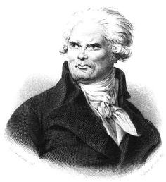 """* Danton *   (1841). (Georges Jacques Danton). Advogado e Político francês. Figura de destaque da """"Revolução Francesa""""(1789-1799). (by J. Caron)."""