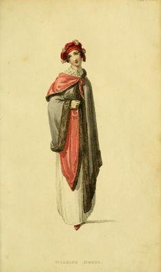 Fashion Plate (Walking Dress): Rudolph Ackermann (England, London, 1764-1834), Series 1 Vol 11: March 1814, English, hand-coloured engraving on paper.