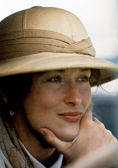 Meryl Streep on the set of Out of Africa (1985)