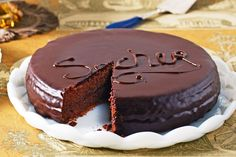 Sacher Torte is a famous classic Viennese #cake, probably the most famous #chocolate cake of all-time. It consists of chocolate sponge cake cut into three layers, between which apricot jam are thickly spread between the layers and on the top and sides of the cake. The whole cake is then iced with a velvet-like chocolate and served with a side dish of whipped cream. 5 December is National #Sachertorte Day. #sweetdish #foodie #delicious