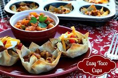 Mommy's Kitchen - Country Cooking & Family Friendly Recipes: Easy Kid Friendly Taco Cups#more