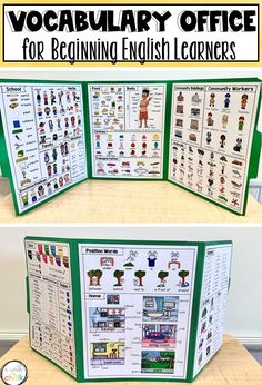 Provide newcomers, or beginning English language learners, with a vocabulary resource that will support them during independent activities. Everyday vocabulary words categorized by topics make finding words simple. An excellent support for ELs in the mainstream classroom, as well as the ESL classroom. Community Workers, Office Pictures, Picture Dictionary, English Language Learners, Vocabulary Words, Ell, Teaching English, Classroom, Decorations