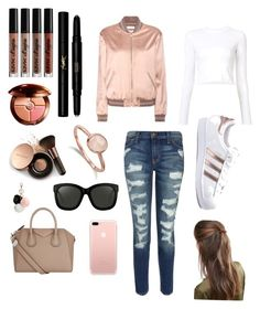 """""""Untitled #13"""" by malgb on Polyvore featuring NYX, Guerlain, Yves Saint Laurent, Nude by Nature, Current/Elliott, Monica Vinader, Givenchy, Linda Farrow, Proenza Schouler and adidas"""