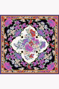 Radjah carré in twill Leonard Paris 100% silk.90x90reference: L9090M_SB501_4