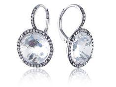 White Quartz And Diamond Drop Earrings White Quartz, White Gold, Sapphire And Diamond Earrings, Metal, Accessories, Jewelry, Jewlery, Jewerly, Schmuck