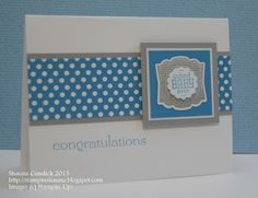 #stampinup #labellove #babycard