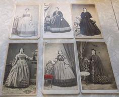 6 cdvs of women in cw dresses