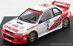 TROFEU TR1107 Масштаб 1/43  SUBARU IMPREZA WRC N 2 WINNER RALLY RUSSIAN 1998 S.USPENSKIY - A.SHCHUKIN WHITE RED