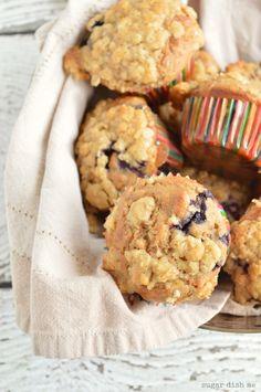 Banana Berry Coffee Cake Muffins - Sugar Dish Me