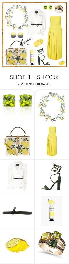 N° 77 | Featured Piece: BOX BAG by #yellowyippie on Polyvore featuring Mode, Belk & Co., Dolce&Gabbana, TIBI, Carolina Herrera, Vionnet, LE VIAN und Matthew Williamson #yellowyippie  #ootd  #getthelook  #polyvore  #fashion #featuredpiece #chic #yellow #green #lemon #weddingstyle #yellowdress