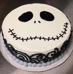 Jack Skellington ice cream cake