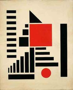 Henryk Berlewi: Composition in Red, Black and White, gouache on paper,1924.