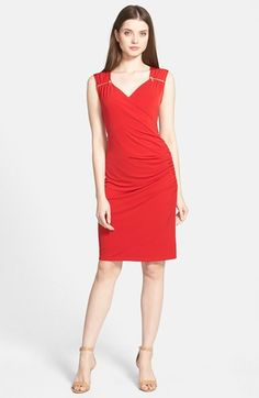 MICHAEL Michael Kors Zip Detail Sweetheart Neck Jersey Dress (Regular & Petite) available at #Nordstrom