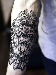 Best Bear on Forearm Tattoo Idea