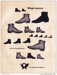 Original-Werbung/ Anzeige 1957 - POSTSCHECKDIENST / DEUTSCHE BUNDESPOST / MOTIV…