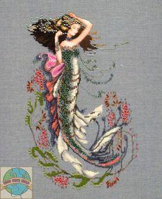 """South Seas Mermaid"" - counted cross stitch - Mirabilia"