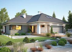 Nela VI - zdjęcie 2 House Plans Mansion, Bungalow House Plans, Dream House Plans, Brick House Designs, Cool House Designs, House Architecture Styles, House Outside Design, 2 Storey House Design, Beautiful House Plans