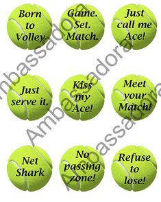 """Tennis Balls on Round Labels (2.5""""): Printable on Avery Round Labels 41462 (or plain paper), Instant"""