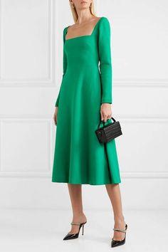 Simple Long Prom Dress With Slit Simple Dresses, Summer Dresses, Short Dresses, Lela Rose, Oui Oui, Green Wool, Maternity Dresses, Green Dress, Dress Up