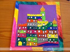 Hundertwasser Auf diese Post-Reihe freue ich mich schon eine ganze Weile. Sie ist dem Künstler Friedensreich Hundertwasser (1928 - 2000) g... Painted Mailboxes, Friedensreich Hundertwasser, Kindergarten, Kids, Children, Crafts, Inspiration, Post, Diy Stuff