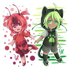 If Plagg and Tikki were kids~ (by CairolingH) (Miraculous Ladybug)
