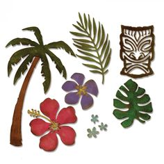 Sizzix+-+Tim+Holtz+-+Alterations+Collection+-+Thinlits+Die+-+Tropical+at+Scrapbook.com