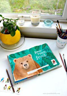 Sunday Sketchbook - Brutus the Bear - by Jennifer Frith