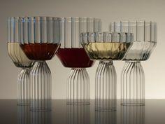 Fferrone Margot Wine Goblets 25 Modern Glass Designs That are Artful and Unique Wine Glass Set, Cut Glass, Glass Art, Wabi Sabi, Dwell Store, Vase Deco, White Wine Glasses, Wine Goblets, Glass Ceramic