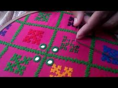 Hand Stitch: Kolkatta Kutch Work/Gujrati Stitch( Different Types )/ হাতের সেলাই:গুজরাটি সেলাই - YouTube