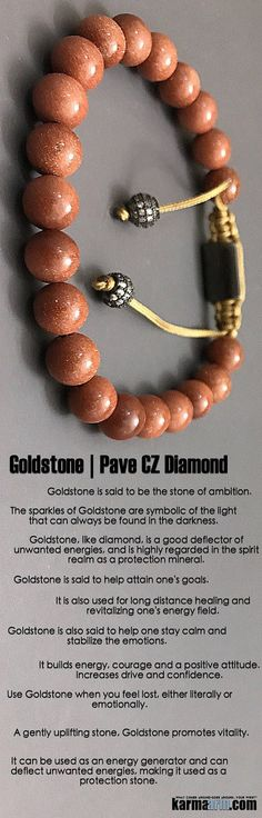 AMBITION: Goldstone Pave Macrame Beaded Chakra Jewelry....  #Goldstone is the stone of ambition. It builds energy, #courage and a positive attitude. Increases drive and #confidence.. ♛ #BEADED #Yoga #BRACELETS #Mens #Good #Luck #womens #Jewelry #Fertility #Eckhart #Tolle #CrystalsEnergy #gifts #Chakra #reiki #Healing #Kundalini #Law #Attraction #LOA #Love #Mantra #Mala #Meditation #prayer #mindfulness #wisdom #CrystalEnergy #Spiritual #Gifts #ValentinesDay #Valentine #Valentines #Mommy…