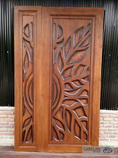 Our Teak wooden doors are designed and manufactured by a team of designers from CareLine Studio with over 20 years experience in multiple countries including Europe ,U.A and Southeast Asia. Wooden Double Doors, Wooden Front Door Design, Modern Wooden Doors, Double Door Design, Custom Wood Doors, Door Gate Design, Wooden Front Doors, Door Design Interior, Entry Doors