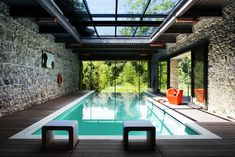 Stunning House with Fully Glazed Steel Frame Structure, Krakow, Poland