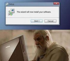 Wizard installing software
